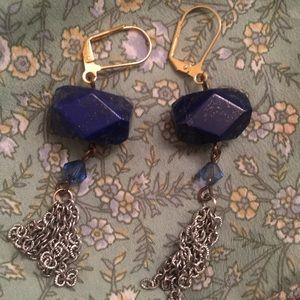VTG genuine Lapis Lazuli earrings
